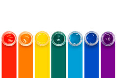 Χρώμα στα βάζα γυαλιού Στοκ Εικόνες