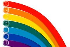 Χρώμα στα βάζα γυαλιού Στοκ Φωτογραφίες