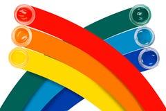 Χρώμα στα βάζα γυαλιού Στοκ Εικόνα