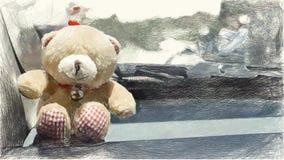 Χρώμα σχεδίων της teddy κούκλας αρκούδων ελεύθερη απεικόνιση δικαιώματος