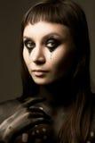 Χρώμα σώμα-τέχνης, νέα γυναίκα Στοκ εικόνες με δικαίωμα ελεύθερης χρήσης