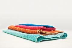 χρώμα τέσσερα πετσέτες Στοκ φωτογραφία με δικαίωμα ελεύθερης χρήσης