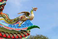Χρώμα τέχνης δράκων της Κίνας Στοκ Εικόνα