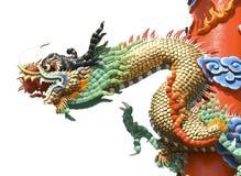Χρώμα τέχνης δράκων της Κίνας Στοκ Φωτογραφία