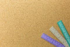 Χρώμα τρία της θέσης κυβερνητών στον πίνακα φελλού στοκ εικόνα