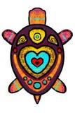 Χρώμα, τυποποιημένη χελώνα με τη διακόσμηση - απεικόνιση ελεύθερη απεικόνιση δικαιώματος