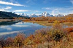 Χρώμα φθινοπώρου σε μεγάλο Teton, Ουαϊόμινγκ Στοκ φωτογραφία με δικαίωμα ελεύθερης χρήσης