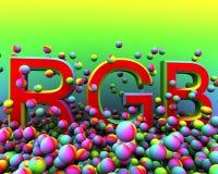 χρώμα φυσήματος rbg Στοκ εικόνα με δικαίωμα ελεύθερης χρήσης