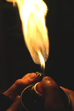 Χρώμα + φλόγα ψεκασμού Στοκ εικόνα με δικαίωμα ελεύθερης χρήσης