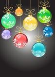 χρώμα Χριστουγέννων σφαιρώ&n ελεύθερη απεικόνιση δικαιώματος