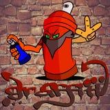 Χρώμα ψεκασμού γκράφιτι στοκ εικόνες με δικαίωμα ελεύθερης χρήσης