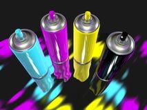 Χρώμα ψεκασμού cmyk Στοκ εικόνες με δικαίωμα ελεύθερης χρήσης