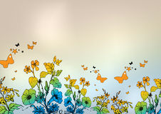 χρώμα floral Στοκ εικόνες με δικαίωμα ελεύθερης χρήσης
