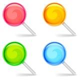 Χρώμα lollipops Στοκ εικόνες με δικαίωμα ελεύθερης χρήσης