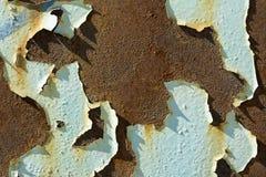 Χρώμα Ruste και αποφλοίωσης στην οικοδόμηση στοκ εικόνα με δικαίωμα ελεύθερης χρήσης