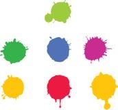 χρώμα splat Στοκ Εικόνες