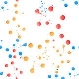 Χρώμα splatter στο λευκό seamless Στοκ φωτογραφία με δικαίωμα ελεύθερης χρήσης