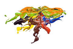 χρώμα splatter Στοκ φωτογραφία με δικαίωμα ελεύθερης χρήσης