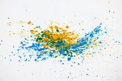 Χρώμα Splatters   Στοκ Εικόνα