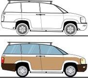 Χρώμα SUV διανυσματική απεικόνιση