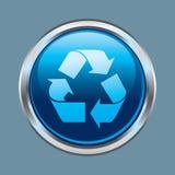 χρώμιο κουμπιών ανακύκλω&sigma απεικόνιση αποθεμάτων