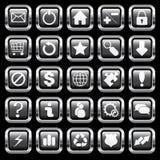 χρώμιο κουμπιών Στοκ φωτογραφίες με δικαίωμα ελεύθερης χρήσης