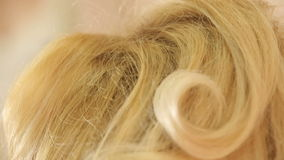 Χτένα τρίχας hairstyle απόθεμα βίντεο