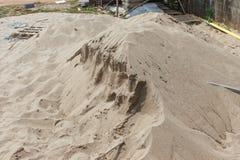 Χτίζοντας άμμος, η λεπτομέρεια κινηματογραφήσεων σε πρώτο πλάνο άμμου Στοκ φωτογραφίες με δικαίωμα ελεύθερης χρήσης