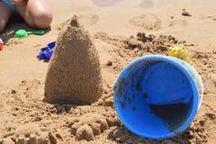 χτίζοντας άμμος κάστρων Στοκ Εικόνα