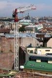 χτίζοντας γερανός πόλεων Στοκ φωτογραφίες με δικαίωμα ελεύθερης χρήσης