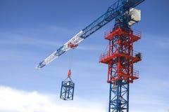 Χτίζοντας γερανός πύργων Στοκ Εικόνες