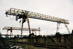 χτίζοντας γερανός Στοκ Εικόνα
