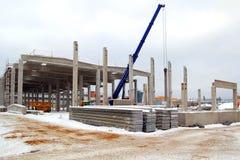 χτίζοντας γερανός Στοκ Φωτογραφία