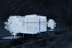 χτίζοντας εμπορικό σχέδι&omicro Στοκ εικόνα με δικαίωμα ελεύθερης χρήσης
