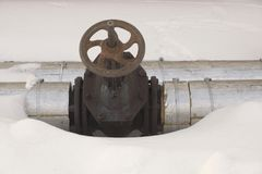 Χτίζοντας εξοπλισμός ελέγχου συστημάτων θέρμανσης Θερμαντικός σωλήνας το val στοκ φωτογραφία με δικαίωμα ελεύθερης χρήσης