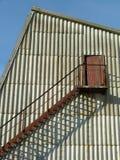 χτίζοντας εξωτερική σκάλα στοκ φωτογραφία
