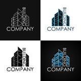 Χτίζοντας επιχείρηση καθορισμένη logotype Στοκ Εικόνες