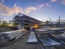 Χτίζοντας εργοτάξιο οικοδομής Στοκ φωτογραφία με δικαίωμα ελεύθερης χρήσης