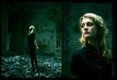 χτίζοντας ερείπια κοριτ&sigm Στοκ Φωτογραφίες