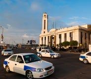 χτίζοντας κεντρικός εν λόγω λιμένας σταθμός αστυνομίας της Αιγύπτου στοκ φωτογραφία με δικαίωμα ελεύθερης χρήσης
