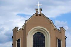 Χτίζοντας ναός εκκλησιών Στοκ φωτογραφία με δικαίωμα ελεύθερης χρήσης