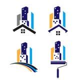 Χτίζοντας λογότυπο Στοκ Φωτογραφία