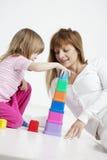 χτίζοντας παιδί στοκ φωτογραφίες