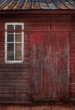 χτίζοντας παλαιό κόκκινο Στοκ Εικόνες