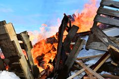 Χτίζοντας περίληψη πυρκαγιάς στοκ εικόνες