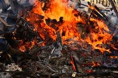 Χτίζοντας περίληψη πυρκαγιάς στοκ εικόνες με δικαίωμα ελεύθερης χρήσης