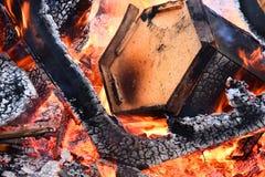 Χτίζοντας περίληψη πυρκαγιάς στοκ φωτογραφίες με δικαίωμα ελεύθερης χρήσης