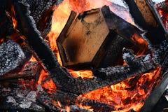 Χτίζοντας περίληψη πυρκαγιάς στοκ φωτογραφίες