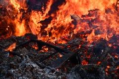 Χτίζοντας περίληψη πυρκαγιάς στοκ φωτογραφία με δικαίωμα ελεύθερης χρήσης