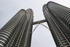 χτίζοντας πιό ψηλός πύργος petronas της Κουάλα Λουμπούρ Μαλαισία προσόψεων λεπτομέρειας Στοκ Εικόνα